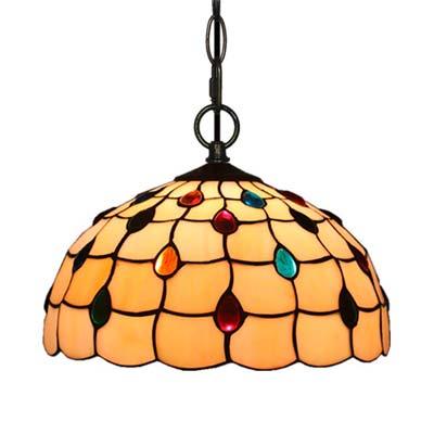 Comprar Lampara estilo Tiffany para colgar en el techo techo modelo apertura inferior