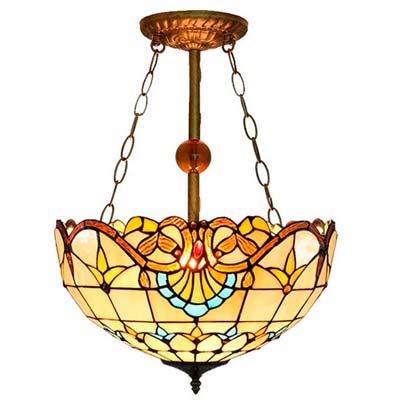 Comprar Lampara estilo Tiffany de techo modelo colgante superior
